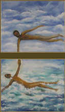Painting diptych: Look to the Sky